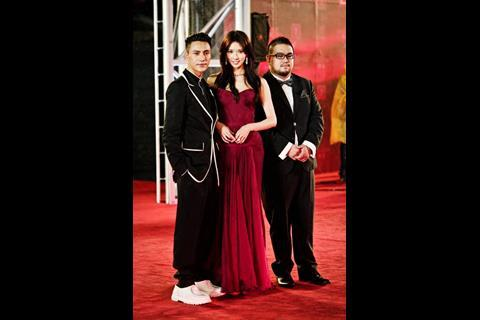Actor Chen Kun, actress Chiling Lin and director Leste Chen